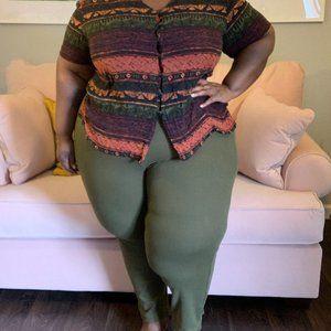 Olive Green Lounge Pants